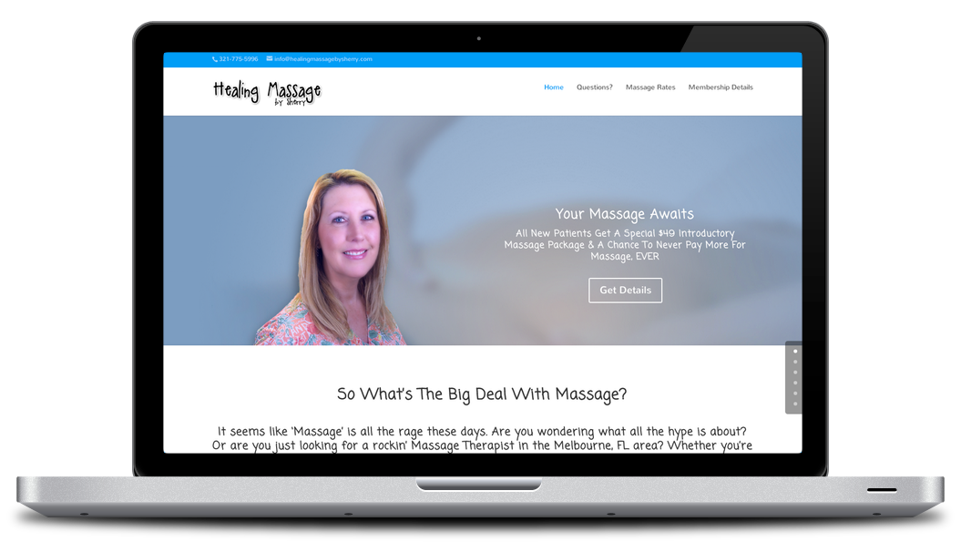 Massage Therapy Website